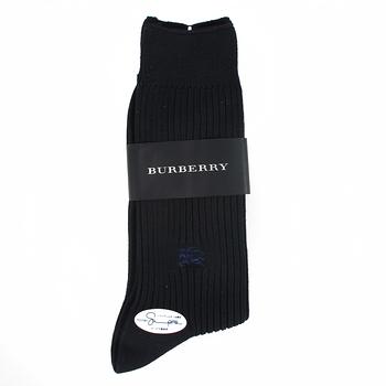 【開箱心得分享】gohappy 購物網BURBERRY 經典戰馬刺繡中直紋紳士襪-深藍評價好嗎遠東 百貨 西門