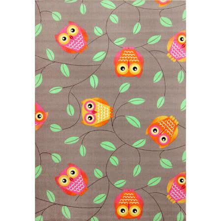【范登伯格】森林天堂俏皮貓頭鷹米棕比利時進口童話地毯-150x200
