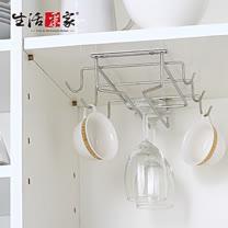 【生活采家】台灣製304不鏽鋼廚房馬克杯高腳杯架#27018