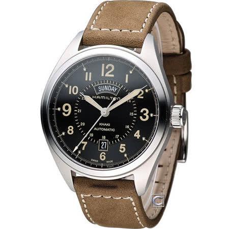 HAMILTON 漢米爾頓卡其陸戰雙曆機械腕錶 H70505833