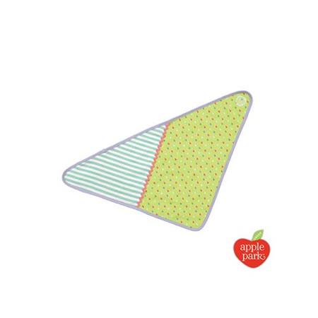 【美國 Apple Park】有機棉三角巾圍兜 - 乳牛貝兒
