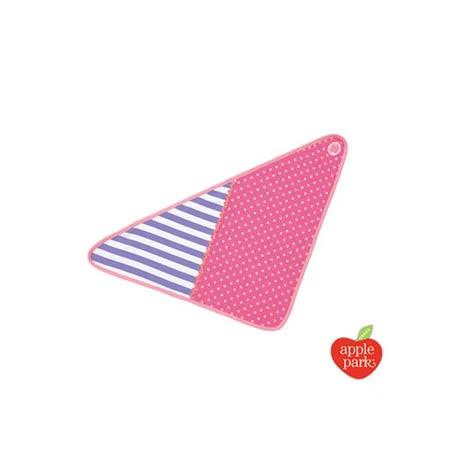 【美國 Apple Park】有機棉三角巾圍兜 - 時尚靚貓