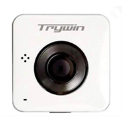 Trywin WD3 超輕巧無線雲端全景行車紀錄器行車記錄器-白 限量送:8G+ 防水盒+腳踏車架組
