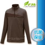 【維特 FIT】男新款 條紋竹炭抗菌內刷保暖上衣_FW1102 時尚灰