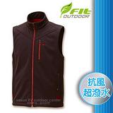 【維特 FIT】男新款 Softshell防風超潑水保暖抗風背心_FW1401 碳灰色