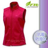 【維特 FIT】女新款 Softshell防風超潑水保暖抗風背心_FW2401 珊瑚紅