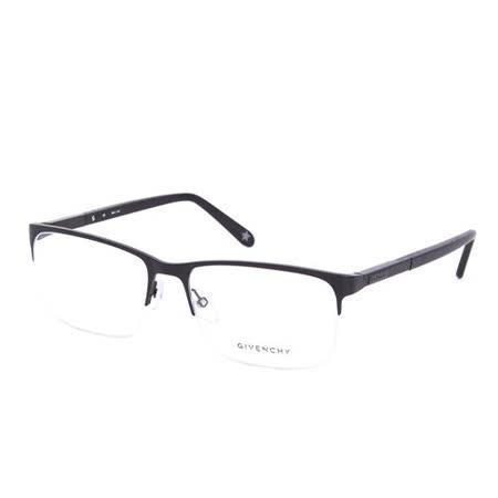 GIVENCHY 法國魅力紀梵希浪漫蛇紋混合金屬潮流平光眼鏡(黑) GIVGV4920531