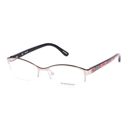 GIVENCHY 法國魅力紀梵希浪漫圖紋潮流平光眼鏡(金+紅) GIVGV49408M6
