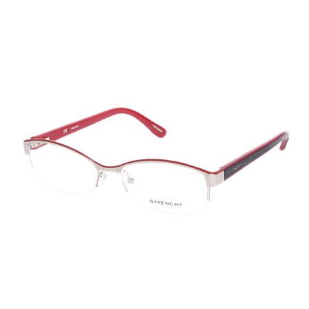GIVENCHY 法國魅力紀梵希時尚玩酷潮流平光眼鏡(黑+紅) GIVGV4940492