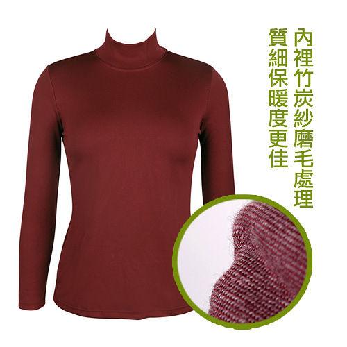 LACOYA 女立領長袖保暖衣^(AP021~3^)~酒紅