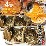 【那魯灣】烏山頭牛奶大閘蟹4隻(3.5~3.9兩/不含繩/隻)