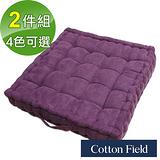 棉花田【摩登】仿麂皮立體胖胖墊-紫色(二件組)