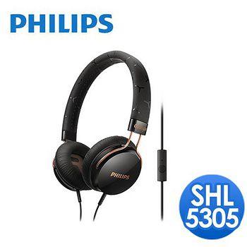 PHILIPS 飛利浦 頭戴式耳機麥克風 SHL5305(酷炫黑)