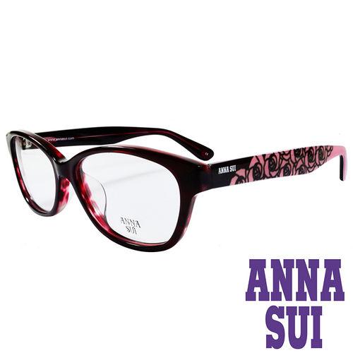 ANNA SUI 浪漫薔薇花紋 眼鏡^(紅 粉紅^)AS636~203