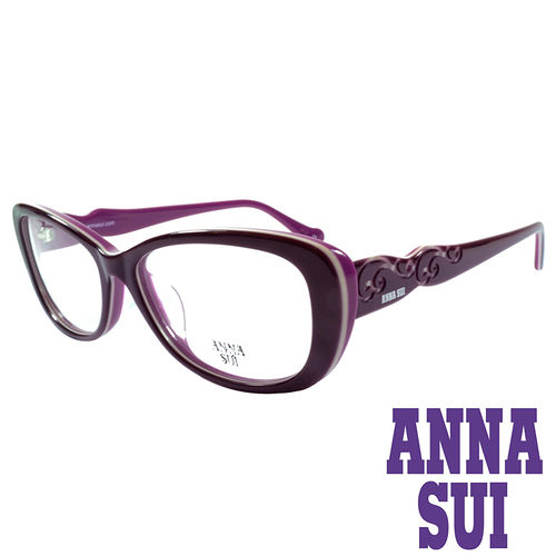 ANNA SUI 印象圖騰 眼鏡^(紫^)AS635~760