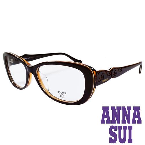 ANNA SUI 印象圖騰 眼鏡^(咖啡^)AS635~102