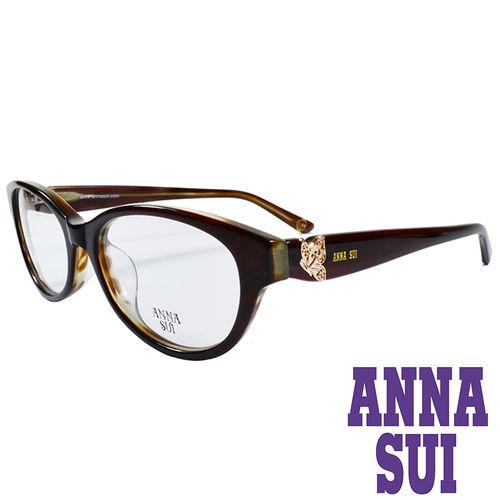 ANNA SUI 金屬蝴蝶 眼鏡^(咖啡^)AS634~100