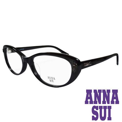 ANNA SUI 金屬 水鑽薔薇 眼鏡^(黑^)AS622~001