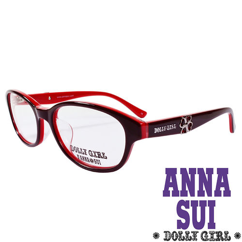 Anna Sui安娜蘇 Dolly Girl系列光學眼鏡 幸運草款‧復古紅~DG52322