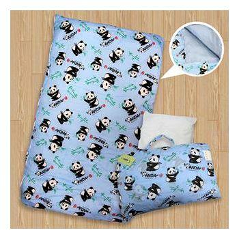貓熊 SWEET PANDA 兒童睡袋 藍