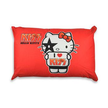 KISS HELLO KITTY 兒童中枕 紅