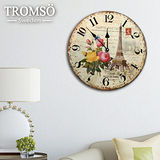 TROMSO無框畫時鐘-玫瑰巴黎(圓形)