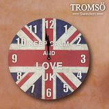 TROMSO無框畫時鐘-品味英國(圓形)