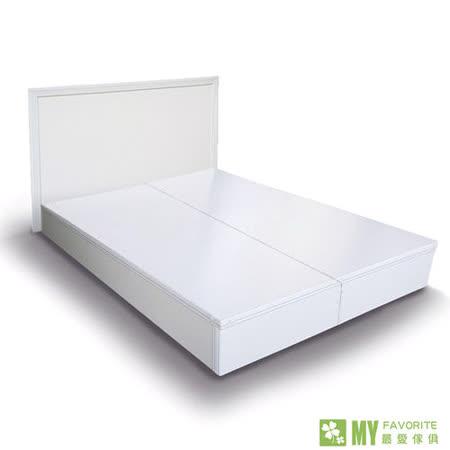 雪白風情5尺雙人床台