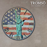 TROMSO無框畫時鐘-自由紐約(圓形)