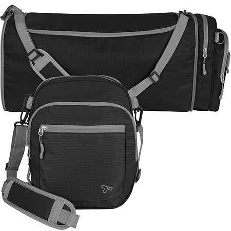 《TRAVELON》2in1輕羽行李袋(黑)