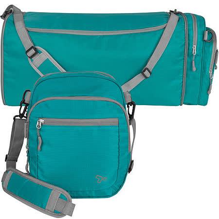 《TRAVELON》2in1輕羽行李袋(藍)