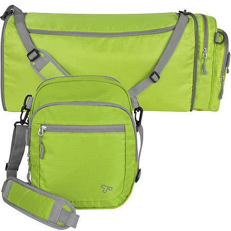 《TRAVELON》2in1輕羽行李袋(綠)