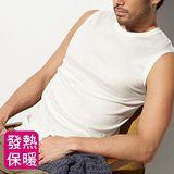 MORINO摩力諾 發熱無袖圓領衫-男-白色 白色