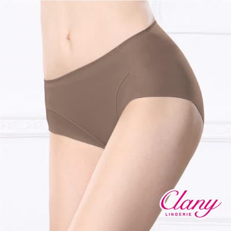 【可蘭霓Clany】健康抑菌竹炭中腰M-XL無痕內褲 (貴族褐 2156-13)