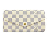 Louis Vuitton LV N63208 熱銷款發財包白棋盤格紋扣式長夾_現貨