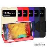 【Roarkorea】Samsung Galaxy Note 3 Neo 開框磁扣式時尚翻頁質感皮套