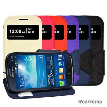 Roarkorea Samsung Galaxy Grand Neo / Duos 開框磁扣式時尚翻頁質感皮套 Grand Neo/Duos
