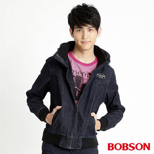 BOBSON 男款熱感IN牛仔外套^(藍32044~52^)