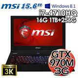 msi微星 GS60 2QE 四代I7 15.6吋 3G獨顯 Win8.1電競筆電(精裝版)