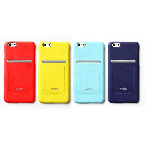 ZENUS AVOC Apple iPhone6 plus6s plus 站立車線皮革保護