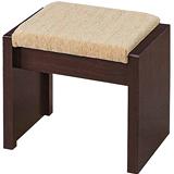 日式量販 基本款胡桃化妝椅