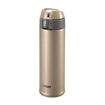 TIGER虎牌 不鏽鋼彈蓋式保溫保冷杯-金(500ml)MMQ-S050