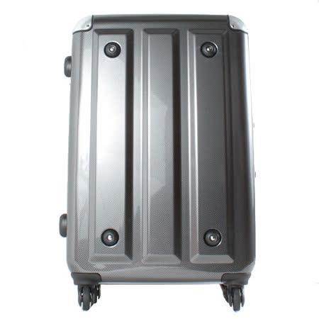 日本MOMJAPAN 新改款輕量鋁框26吋鏡面旅行箱-方塊黑MF3008-26-BK