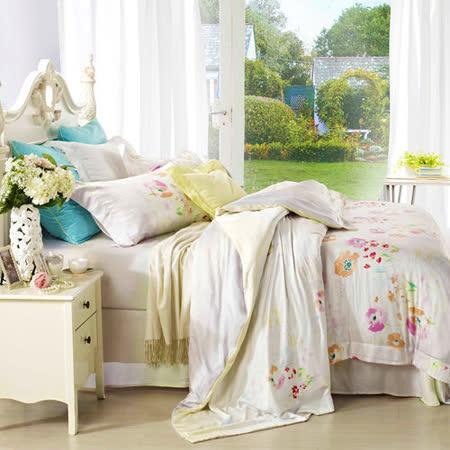 【Betrise霞彩時光】雙人100%奧地利天絲TENCEL四件式兩用被床包組