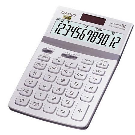 【CASIO 卡西歐】Stylish JW-200TW 白色 12位 桌上型計算機