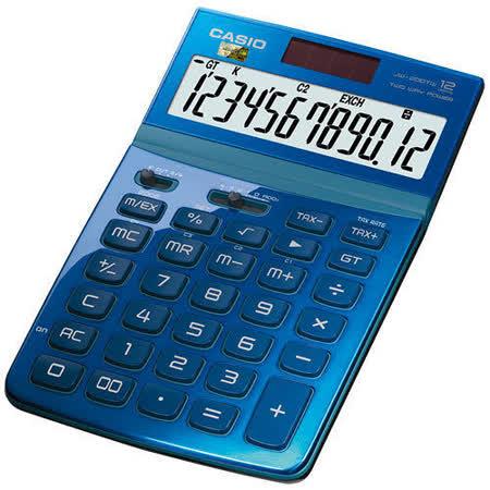 【CASIO 卡西歐】Stylish JW-200TW 藍色 12位 桌上型計算機