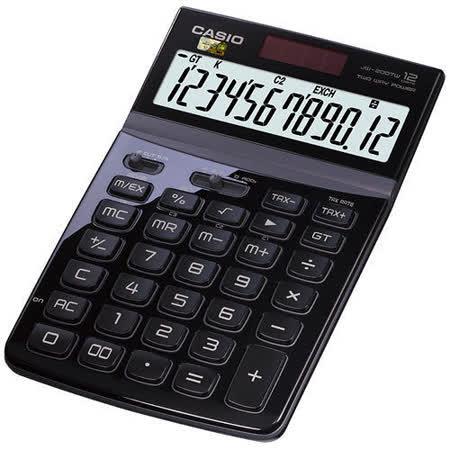 【CASIO 卡西歐】Stylish JW-200TW 黑色 12位 桌上型計算機