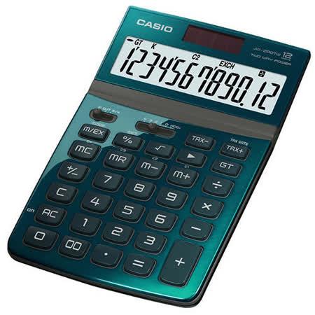 【CASIO 卡西歐】Stylish JW-200TW  綠色 12位 桌上型計算機