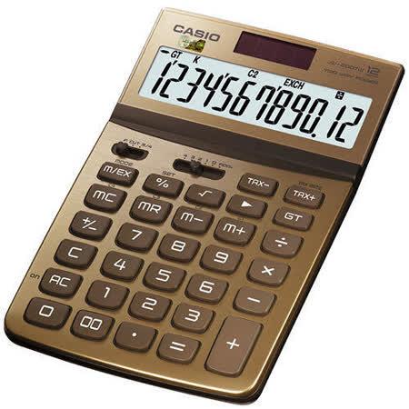 【CASIO 卡西歐】Stylish JW-200TW  金色 12位 桌上型計算機