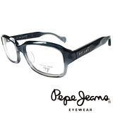 Pepe Jeans 英倫時尚英國國旗暗花雙色造型光學鏡框 (灰藍) PJ734118-009